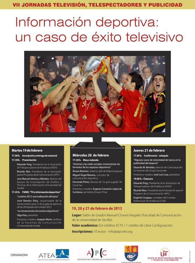Cartel Jornadas Televisión Telespectadores y Publicidad-1